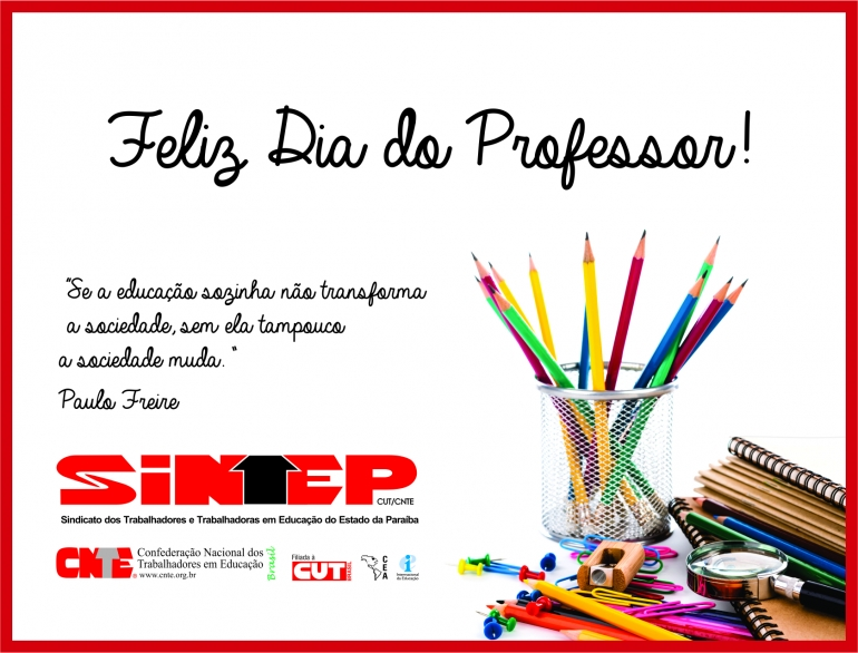 Feliz Dia Do Professor Sintep